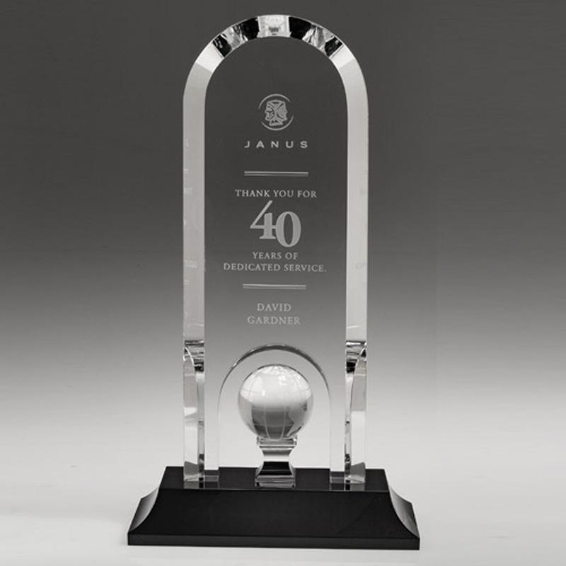 Bryan Arch Shaped Award Golf Ball on Pedestal