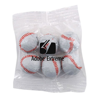 Snack Bag with Chocolate Baseballs