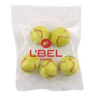 Snack Bag with Chocolate Tennis Balls