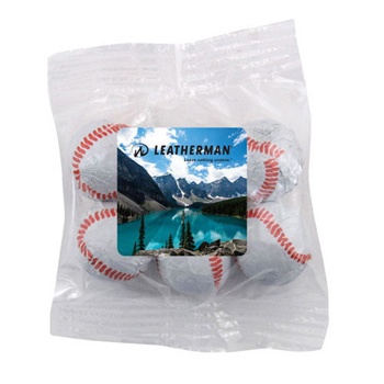 Snack Bag with Choc. Baseballs