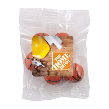 Snack Bag w/ Choc. Basketballs