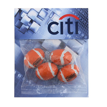 Billboard Bag with Choc. Footballs