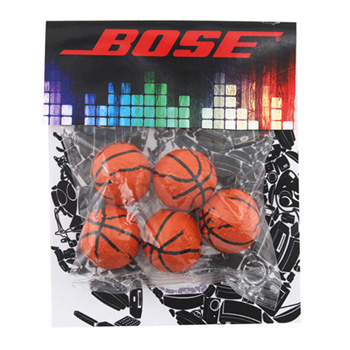 Billboard Bag with Choc. Basketballs