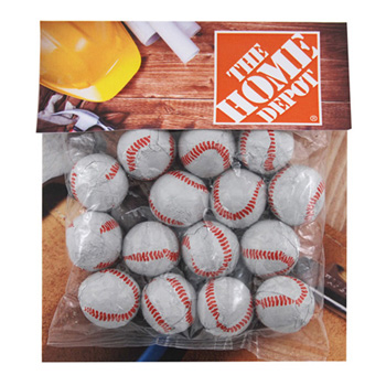 Billboard Bag with Choc. Baseballs