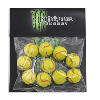 Billboard Bag with Choc. Tennis Balls