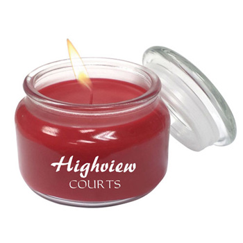 Aromatherapy Wax Candle 8oz Glass Patio Jar