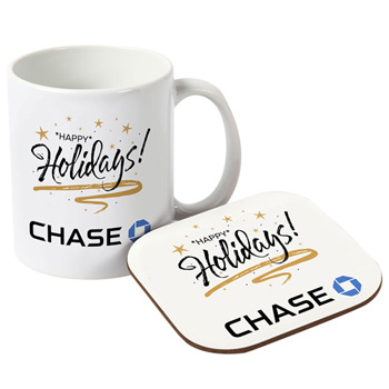 Mug with Neoprene Coaster Gift Set