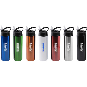 24 oz Aluminum Water Bottle with Flip Top Sport lid