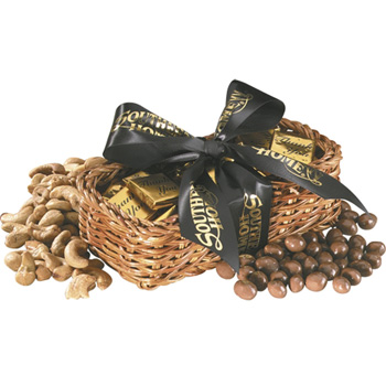 Gift Basket with Chocolate Footballs