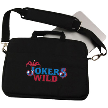 Embroidered Padded Messenger Bag