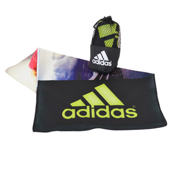 Cooling Towel in Mesh Drawstring Pouch