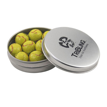 Round Tin with Chocolate Tennis Balls