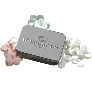 Embossed Large Mint Tin with Mints