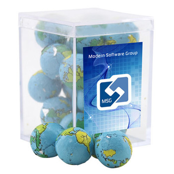 Acrylic Box with Chocolate Globes