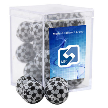 Acrylic Box with Chocolate Soccer Balls