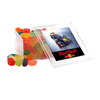 Acrylic Box with Gummy Bears