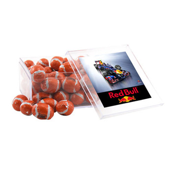 Acrylic Box with Chocolate Footballs