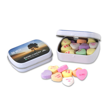 Mini Hinged Tin- Conversation Hearts