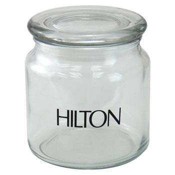 "3 3/4"" Round Glass Jar Empty"