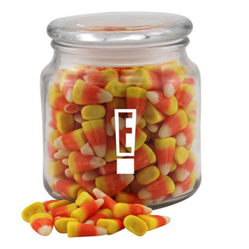 Jar with Candy Corn