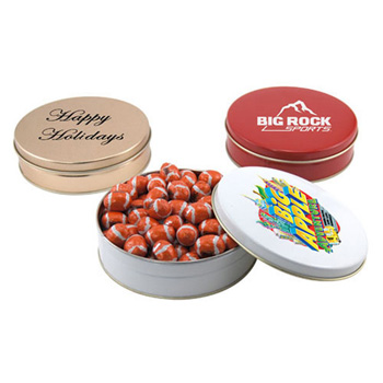 Gift Tin with Chocolate Footballs