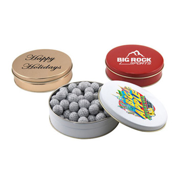 Gift Tin with Chocolate Golf Balls