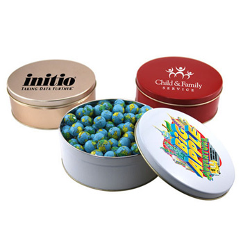 Gift Tin with Chocolate Globes