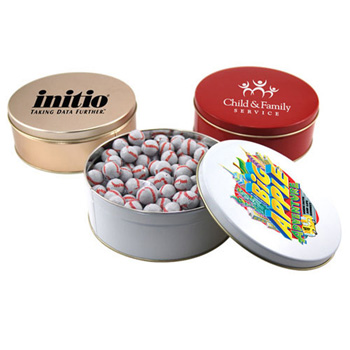 Gift Tin with Chocolate Baseballs