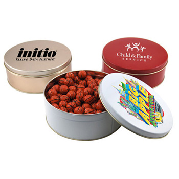 Gift Tin with Chocolate Basketballs