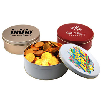 Gift Tin with Chocolate Coins