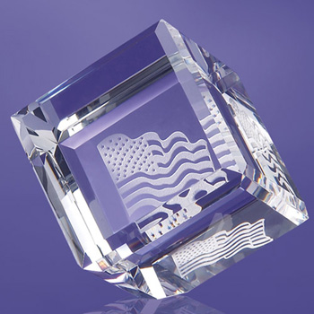 Allegheny Cube Paperweight