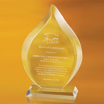 Emlenton Flame Shaped Award