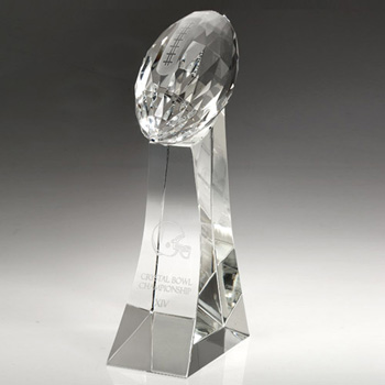 Girard Faceted Crystal Football