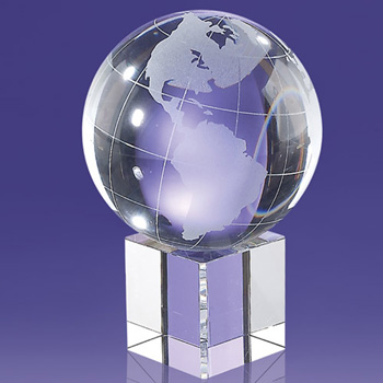 Macungie Globe on Glass Cube