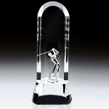 Easthampton Curved Award Metal Golfer