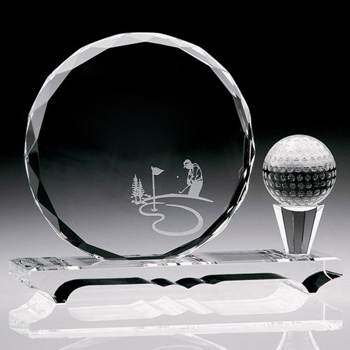 Fall River Gem Cut Award Golf Ball And Tee