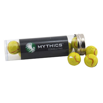 Tube with Choc Tennis Balls
