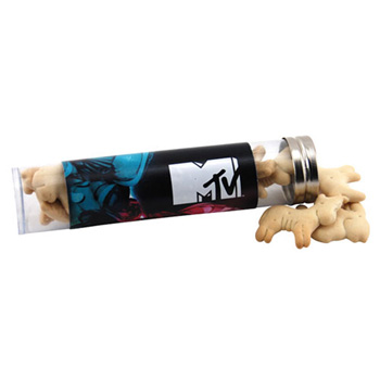 Tube with Animal Crackers