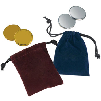Velour Pouches with Chocolate Coins